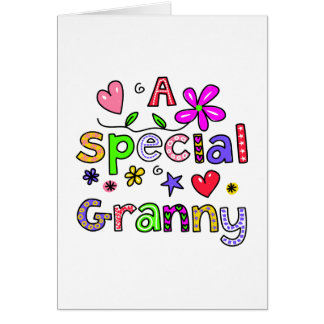Cute A Special Granny Greeting Text Expression Card