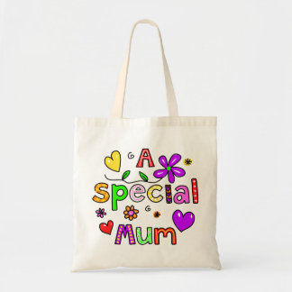 Cute A Special Mum Greeting Text Expression Tote Bag
