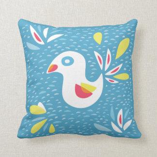 Cute Abstract Bird In Spring Throw Pillow