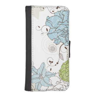 Cute Abstract Girly Floral iPhone SE/5/5s Wallet Case