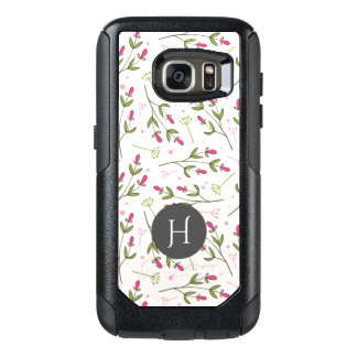 Cute Abstract Pink Flowers Pattern OtterBox Samsung Galaxy S7 Case