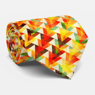 Cute abstract triangles pattern design tie