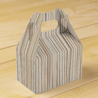 Cute abstract wood lines design favor box