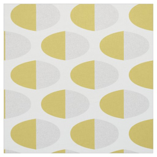 Cute Abstract Yellow Easter Eggs Pattern Fabric