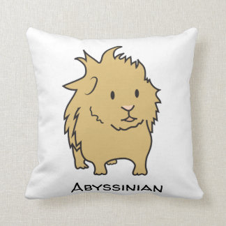 Cute Abyssinian Guinea Pig Throw Pillow