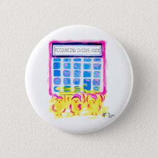 Cute Accountant Button - Accounting Chicks Rock