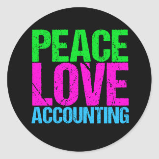 Cute Accountant Classic Round Sticker