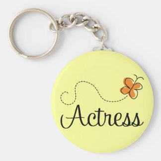 Cute Actress Butterfly Logo Gift Keychain