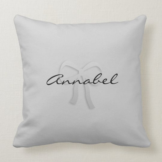 Cute Add Name Bow Pillow