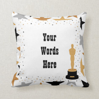 Cute add text Movie theatre decor pillow