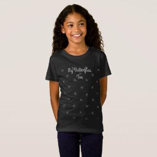 Cute Add Text Silver Butterflies T-shirt