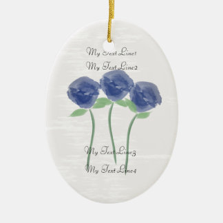 Cute Add Text  Watercolor Roses Flowers Ornament