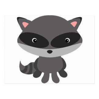 Cute, adorable baby raccoon postcard