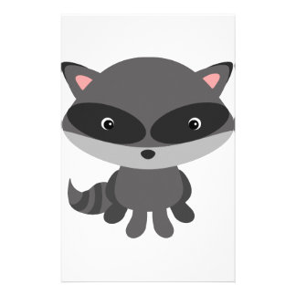 Cute, adorable baby raccoon stationery