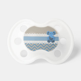 Cute adorable blue Paisleys elephant white lace Baby Pacifier
