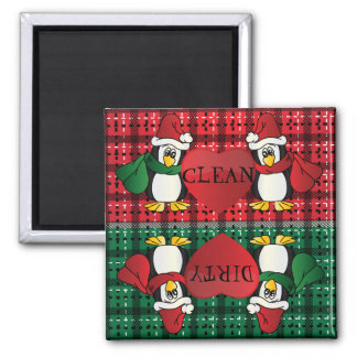 Cute Adorable Christmas Penguins Magnet