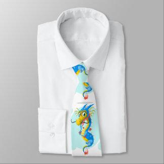 Cute, adorable dragon monster tie