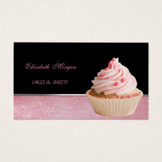 Cute Adorable  Elegant , Cupcake Bakery Business Card