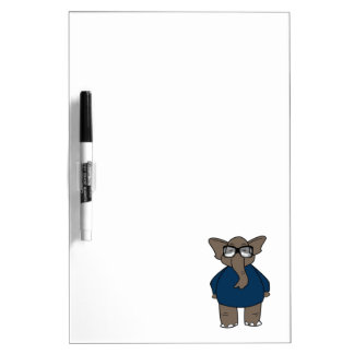 Cute Adorable Elephant Dry Erase Board