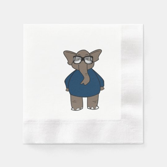 Cute Adorable Elephant Paper Napkins