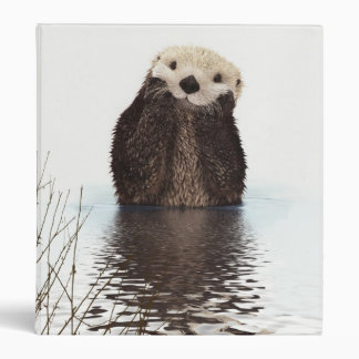 Cute adorable fluffy otter animal binder