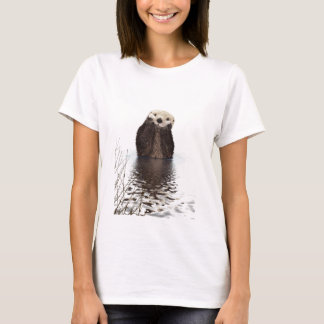 Cute adorable fluffy otter animal T-Shirt