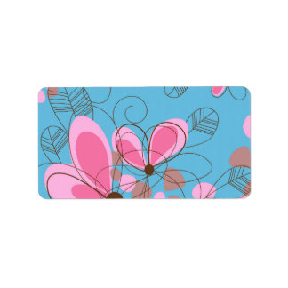 Cute adorable girly trendy hand painted flowers