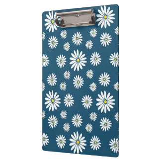 Cute adorable girly trendy spring daisies pattern clipboard