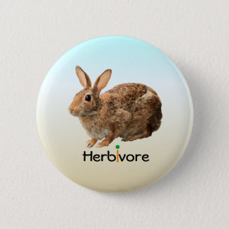 Cute Adorable Herbivore Vegan Wild Bunny Ice Blue 2 Inch Round Button