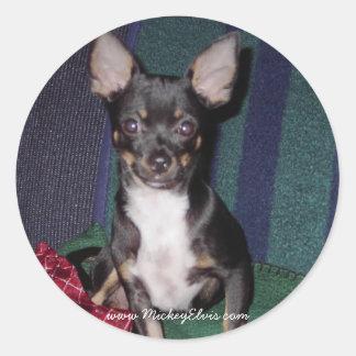 Cute & Adorable MickeyElvis Classic Round Sticker