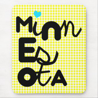 Cute Adorable Minnesota State Pride love MN Mouse Pad
