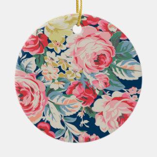 Cute Adorable Modern Blooming Flowers Ceramic Ornament