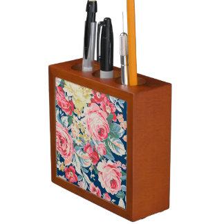 Cute Adorable Modern Blooming Flowers Desk Organizer