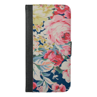 Cute Adorable Modern Blooming Flowers iPhone 6/6s Plus Wallet Case