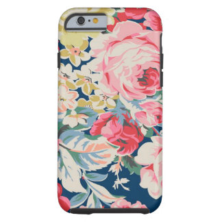 Cute Adorable Modern Blooming Flowers Tough iPhone 6 Case