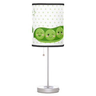 Cute adorable peas - choose background color table lamp