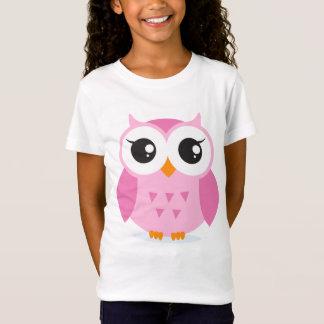 Cute adorable pink owl animal cartoon for kids T-Shirt