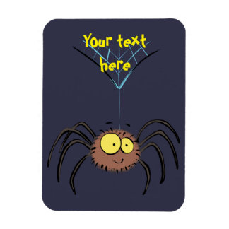 Cute, adorable spider cartoon magnet