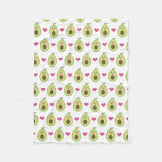 Cute Advocado Hearts Blanket