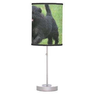 Cute Affenpinscher Dog Table Lamp