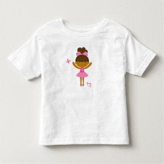 Cute african american ballerina children's t-shirt