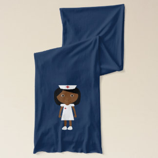 Cute African American Cartoon Nurse Scarf