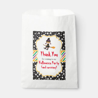 Cute African American Witch Halloween Favour Bag