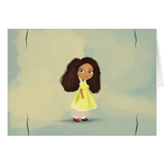 cute African cartoon girl Card