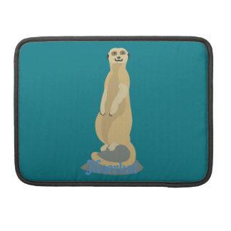 Cute African Meerkat standing upright atop a rock Sleeve For MacBook Pro