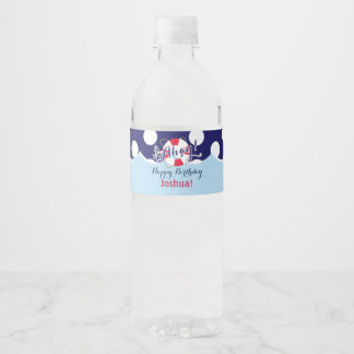 Cute, Ahoy! Nautical Water Bottle Label