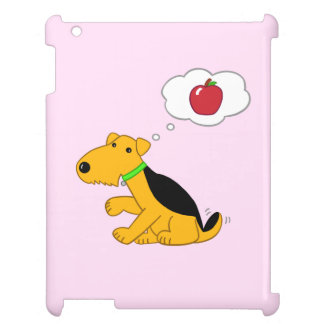 Cute Airedale Dog Thinking of Apple iPad Case