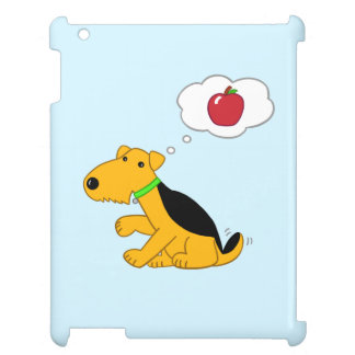 Cute Airedale Terrier Puppy Dog Thinks of Apple iPad Case