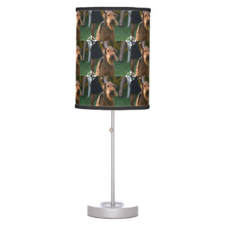 Cute Airedale Terrier Table Lamp