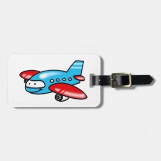 cute airplane luggage tag
